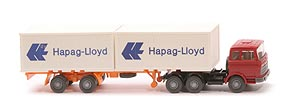 Zur Detailseite MB LPS 2223 Container-Sattelzug - Hapag/Lloyd 2 x 20ft, rubinrot - Hapag/Lloyd 3 ?