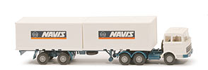 MB LPS 2223 Container-Sattelzug - Navis 2x 20ft-Container - Navis (4) ~