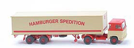 Scania 111  Koffer-Sattelzug - Hamburger Spedition mit Lkr/Sp - 512/4d