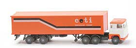 Scania 111  Container-Sattelzug - ceti, orange / weiss - 520/46d