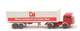 MB LPS 1620 Koffer-Sattelzug - Kontinent Aufl-Chassis rot - 513/11c