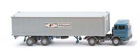 MB LPS 1620 Containersattelzug - INTERPOOL  azurblau / ... / basaltgrau - Interpool ?