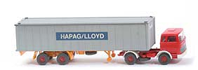 MB LPS 1620 Containersattelzug - HAPAG/LLOYD  rot / rot / weiss - Hapag-Lloyd 5?
