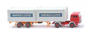 MB LPS 1620 Containersattelzug - HAPAG/LLOYD  rot / rot / weiß - Hapag-Lloyd 5?