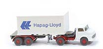 MB LS 1413 Container-Sattelzug 20ft - Hapag/Lloyd neuer Container o. Nr. - Hapag/Lloyd (1413) ?