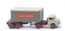 MB LS 1413 Container-Sattelzug 20ft - Trans Europa OT, FH hellgelbgrau - 526/1 ?