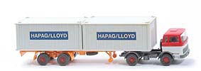 MB LPS 1620 Containersattelzug - HAPAG/LLOYD rot / weiss - Hapag-Lloyd 5?