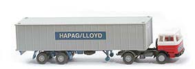 MB LPS 1620 Containersattelzug - HAPAG/LLOYD  weiss  / rot /schwarz - Hapag-Lloyd 5?