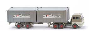 Zur Detailseite Hanomag-Henschel Container-Sattelzug - Interpool 2 x 20ft, silbern - Interpool (1) ~