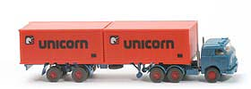 US-Zugmaschine Containersattel - Unicorn, azurblau - Unicorn A