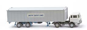 MB LPS 1620 Containersattelzug II - UNITED STATES LINES grauweiss / basaltgrau - 523/18b