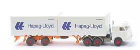 US-Zugmaschine Containersattel - Hapag/Lloyd 2 x 20ft, weiß - Hapag/Lloyd 11c