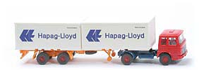 Zur Detailseite MAN 19.230 Container-Sattelzug - Hapag/Lloyd 2 x 20 ft, rot / capriblau - Hapag/Lloyd 7 ?