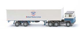 Scania 111  Container-Sattelzug - United States Lines / Kab oben weiß - 520/41b