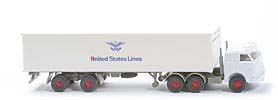 US-Zugmaschine Containersattel - United States Lines ohne roten Kreis - United States Lines 1