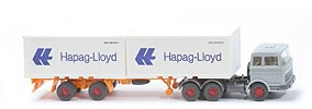 Zur Detailseite MB LPS 2223 Container-Sattelzug - Hapag-Lloyd 2 x 20ft, silbergrau - Hapag/Lloyd 3g