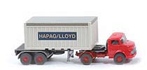 MB LS 1413 Container-Sattelzug 20ft - Hapag/Lloyd OT, rot / grauweiß - 526/8 ?
