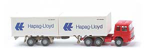 Zur Detailseite MAN  22.321 Container-Sattelzug - Hapag/Lloyd 2 x 20ft, rot / rot - Hapag/Lloyd 7 ?