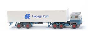 Scania 111  Container-Sattelzug - Hapag/Lloyd 1 x 40ft - 520/45b