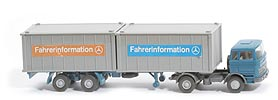 MB LPS 1620 Containersattelzug II - Fahrerinformation 2 x 20ft - Fahrerinformation 9