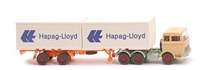 Zur Detailseite MB LPS 2223 Container-Sattelzug - Hapag/Lloyd 2x20ft, FH hellbeige - Hapag/Lloyd 3 ?