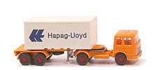 Zur Detailseite MAN 19.230 Container-Sattelzug - Hapag/Lloyd 1 x 20 ft,  melonengelb - Hapag/Lloyd 7 ?