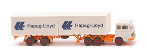 MB LPS 2223 Container-Sattelzug - Hapag/Lloyd 2 x 20ft, weiß - Hapag/Lloyd 3 ?