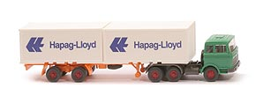 Zur Detailseite MB LPS 2223 Container-Sattelzug - Hapag/Lloyd 2 x 20ft, grün - Hapag/Lloyd 3 ?