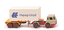 IH Container-Sattelzug 20ft - Hapag/Lloyd Werbe-Container o. Nr. - Hapag/Lloyd 12 ?