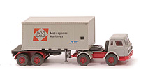 IH Container-Sattelzug 20ft - Messageries Maritimes, ZM silbergrau/rot - 525/7 ?