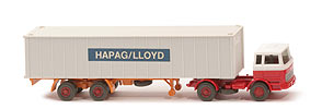MB LPS 1620 Containersattelzug - HAPAG/LLOYD weiß / rot / rot - Hapag-Lloyd 5?