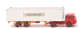 Henschel HS 14 Container-Sattelzug - Container verchromt - United States Lines - United States Lines ?