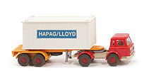 IH Container-Sattelzug 20ft - Hapag/Lloyd Alu-Container weiß - Hapag/Lloyd 12 ?