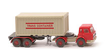 IH Container-Sattelzug 20ft - OT Trans Container, ZM rot/hellgelbgrau - 526/10 ?