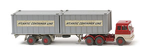 Hanomag-Henschel Container-Sattelzug - Atlantic Container Line 2 x 20ft, silbern - 521/10a