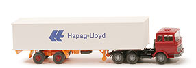 Zur Detailseite MB LPS 2223 Container-Sattelzug - Hapag/Lloyd 1 x 40ft, rubinrot - Hapag/Lloyd 3 ?
