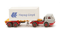 IH Container-Sattelzug 20ft - Hapag/Lloyd neuer Container o. Nr. - Hapag/Lloyd 12