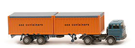 MB LPS 1620 Containersattelzug - Sea Containers, 2x20 ft Open Top - nicht erfasst