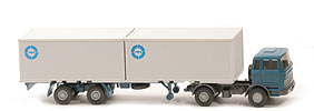 MB LPS 1620 Containersattelzug - IWT, Plywood-Container, blauer Druck - IWT ?