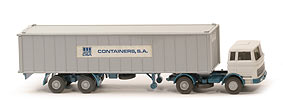 MB LPS 1620 Containersattelzug - CSA, 40ft Cont. mit Aufkleber - Container SA