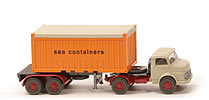 MB LS 1413 Container-Sattelzug 20ft - sea containers OT, FH hellgelbgrau - 526/4c