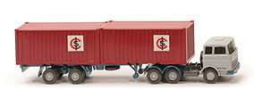 MB LPS 2223 Stahl-Container - ICS mit Aussparung , Container rubinrot - 524/4a ~