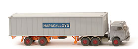 US-Zugmaschine Containersattel - Hapag/Lloyd 1 x 40ft, Kabine silbern - Hapag/Lloyd 11 ?