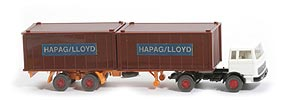 MB LPS 1620 Containersattelzug - HAPAG/LLOYD  weiss / schwarz - Hapag-Lloyd 5?