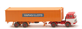 MB LPS 1620 Containersattelzug - HAPAG/LLOYD  rot / weiß / rot - Hapag-Lloyd 5?