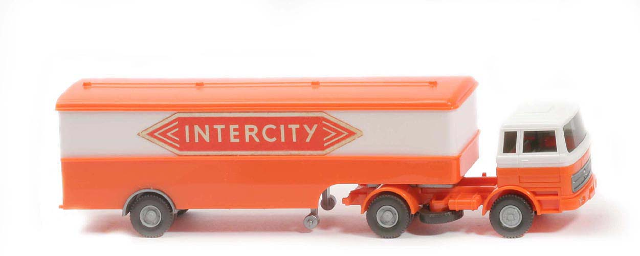 MB LPS 1620 Großer Koffer-Sattelzug - INTERCITY orange - 513/9c