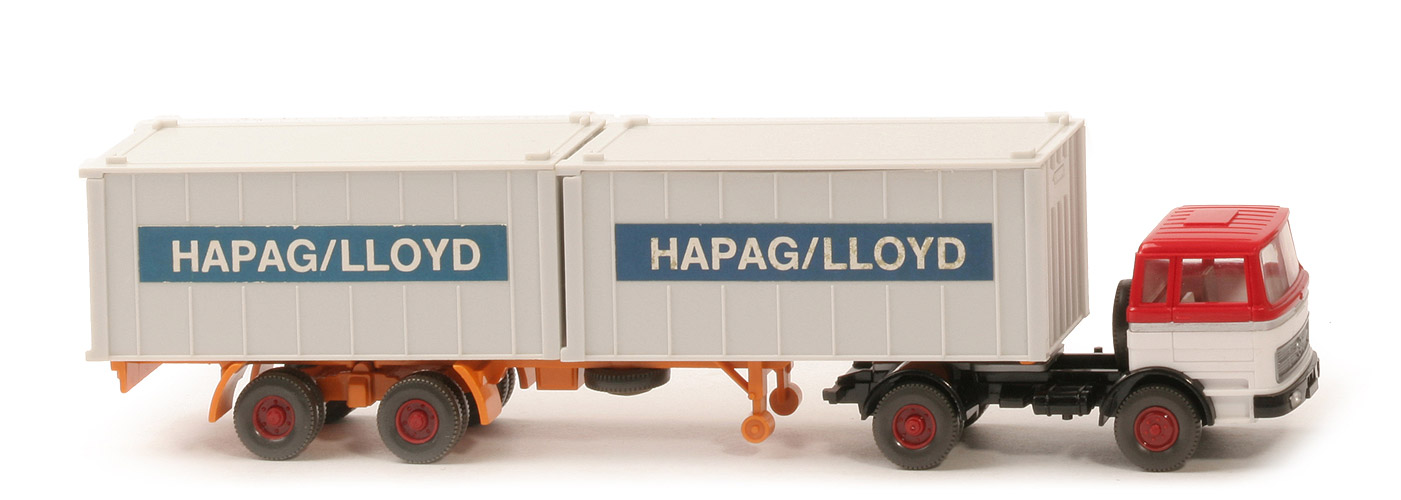 MB LPS 1620 Container-Sattelzug - Hapag-Lloyd rot / weiß - Hapag-Lloyd 5b