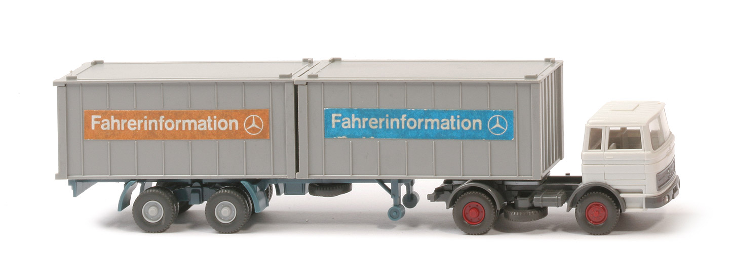 MB LPS 1620 Containersattelzug II - Fahrerinformation 2 x 20ft - Fahrerinformation (9) b