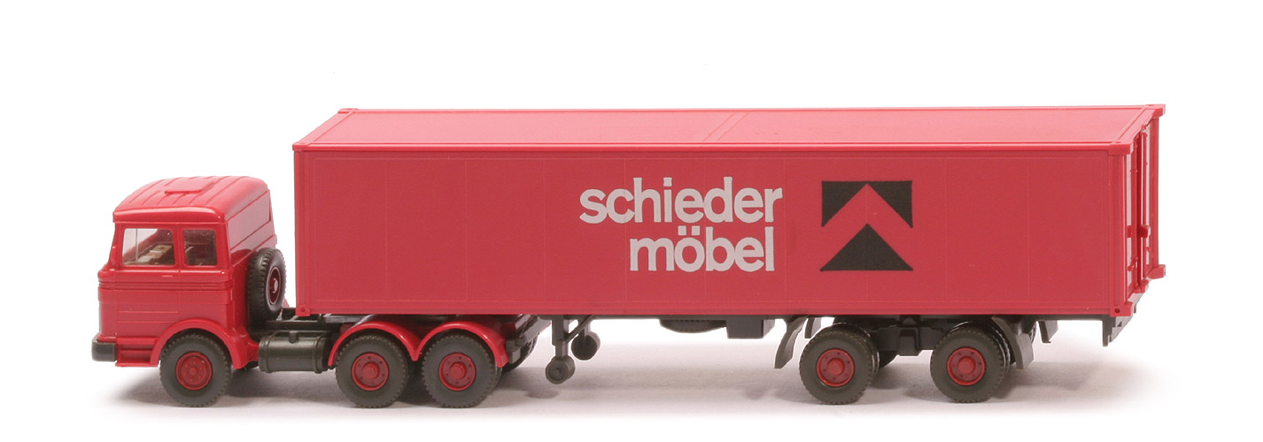 Kneules Wiking Standards Mb Lps 2223 Container Sattelzug Schieder