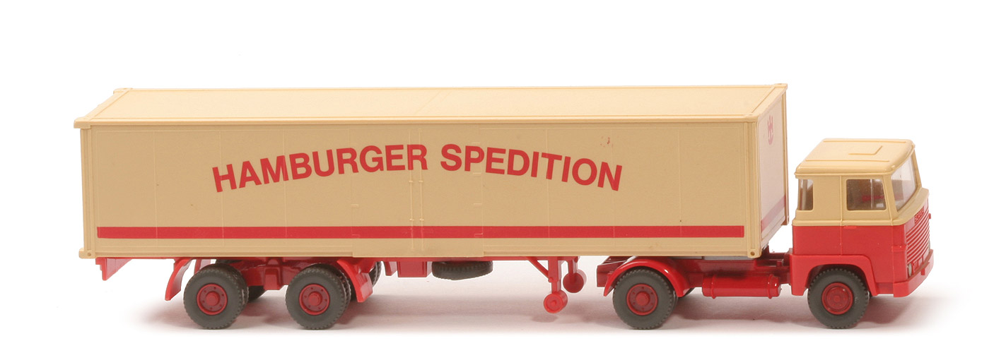 Scania 111  Koffer-Sattelzug - Hamburger Spedition ohne Lkr/Sp - 512/4a